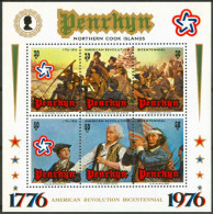 1976 Penrhyn AMERICAN REVOLUTION BICENTENNIAL Block MNH ** -ZZ15 - Penrhyn