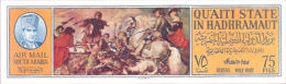 ADEN-Qu´aiti State Of Hadhramaut 1967 Horses Rubens Painting Battle 75fils IMPERF.   [non Dentelé, Geschnitten,no Dentad - Yemen