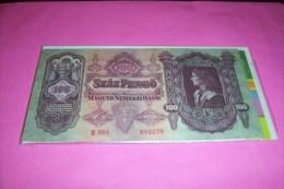 HONGRIE  °  100 PENGO 1930 - Andere
