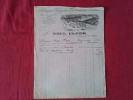 PAUL FLOHR À PARIS (75000). FACTURE DE 1908. - Petits Métiers