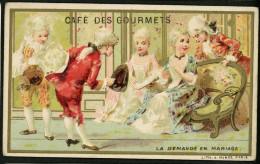 Café Des Gourmets, Chromo Lith. J. Minot, La Demande En Mariage - Tè & Caffè