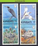 Nbm0055 FAUNA VOGELS REIGER HERON NEST BIRDS VÖGEL AVES OISEAUX KIRIBATI 1989 PF/MNH - Konvolute & Serien