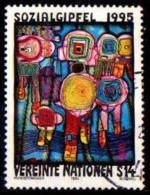 UNO Wien / UN Vienna: 'Friedensreich Hundertwasser - Sozialgipfel, 1995' / 'Social Summit', Mi. 179; Yv. 199; Sc. 179 Oo - Vienna – International Centre