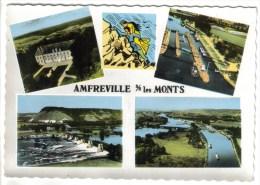 CPSM AMFREVILLE SOUS LES MONTS (Eure) - En Avion Au-dessus De....4 Vues - France