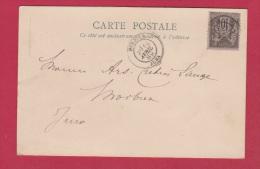 CARTE POSTALE  //  POUR MORBIER  //   14 AVRIL  1889 - Zonder Classificatie