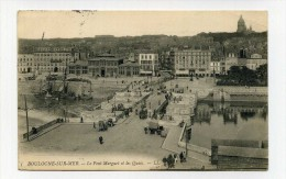 CP , 62 , BOULOGNE-sur-MER , Le Pont Marguet Et Les Quais - Boulogne Sur Mer