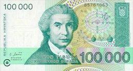 Croatia 100000 Dinar 1993 Pick 27 UNC - Croatie