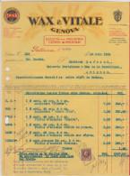 Génova, Wax & Vilale, Società Per Industria Generi Alimentari 1934 - Italie