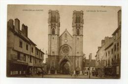 CP , 71 , CHALON-sur-SAONE , La Cathédrale Saint-Vincent - Chalon Sur Saone