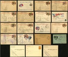 FRANCE - LOT DE 19 CARTES DE FRANCHISE MILITAIRE DIVERSES - Marcophilie (Lettres)