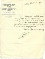 COURRIER FABRIQUE DE STATUES RELIGIEUSES EN CIRE DUCREUX-LAROCHE LYON 1935 ENFANTS JESUS  PERSONNAGES CHRECHES - Autres