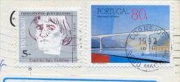 Portugal 1992 Picture Postcard From Machico (Madeira Island) To Switzerland With 80 E. Bridge + 5 E. Navigator Teixeira - Lettere