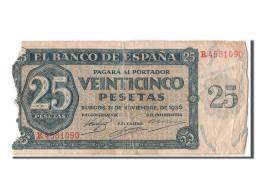 [#303733] Espagne, 25 Pesetas Type 1936 - [ 2] 1931-1936 : Republiek