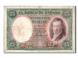 Espagne, 25 Pesetas Type Lopez - [ 2] 1931-1936 : Republiek