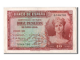 Espagne, 10 Pesetas Type Silver Certificate - [ 2] 1931-1936 : Republic