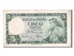 [#303751] Espagne, 5 Pesetas Type Alfonso X, - [ 3] 1936-1975 : Régence De Franco