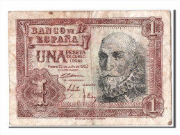 [#303802] Espagne, 1 Peseta Type Santa Cruz - [ 3] 1936-1975 : Régence De Franco