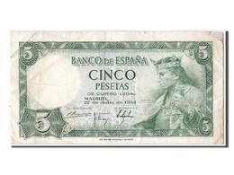 [#303752] Espagne, 5 Pesetas Type Alfonso X - [ 3] 1936-1975 : Régence De Franco