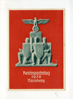 1936 3. Reich Propagandakarte Festpostkarte Reichsparteitag Nürnberg 8-14.9.1936 - Briefe U. Dokumente
