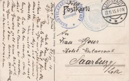 """RESERVELAZARETT LIPPSTADT"" + TàD LIPPSTADT Du 22.11.15 Sur CP Vue De La Ville - Postmark Collection (Covers)"