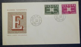 GRECE - FDC ** Europa 1963 (timbres N° YT 799 Et 800) - Europa-CEPT