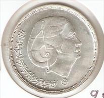 MONEDA DE PLATA DE EGIPTO DE 1 POUND DEL AÑO 1976 (COIN) SILVER-ARGENT - Egipto