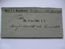 AUSTRIA 1859 WRAPPER FROM BAD AUSSEE - Autriche