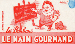 -  BUVARD Pub Bonbons LE NAIN GOURMAND - 947 - Caramelle & Dolci