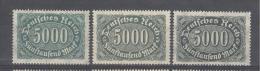 REICH -  Mi Nr 256a + B+ C - MNH** - Cote 8,80 € - Deutschland