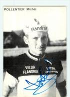 Michel POLLENTIER, Autographe Manuscrit, Dédicace. 2 Scans. Flandria - Cycling