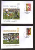 FOOTBALL FÚTBOL FUSSBALL SOCCER EUROPEAN CHAMPIONSHIP 2000 FRANCE - CZECH REP. 2 Event Covers - Championnat D'Europe (UEFA)