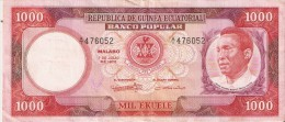 BILLETE DE GUINEA ECUATORIAL DE 1000 EKUELE DEL AÑO 1975  (BANKNOTE) - Guinea Ecuatorial