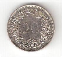 SUISSE, Monnaie 20 Centimes , 1977, Bon état - Svizzera