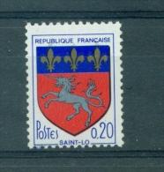 N°1510 Variété Fleurs De Lys Or Doublée, Neuf **. Signé Calves. - Abarten: 1960-69 Ungebraucht