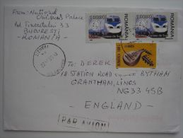 Romania 2004 Commercial Cover Lettre Brief To UK Nice Stamps - 1948-.... Republics