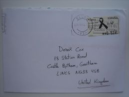 Spain Espana 2004 Commercial Cover Lettre Brief To UK Nice ATM - 1931-Today: 2nd Rep - ... Juan Carlos I