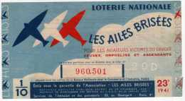 Loterie Nationale : Les Ailes Brisées Pour Les Aviateurs Victimes Du Devoir 1941 - Lotterielose