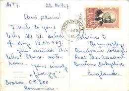 Arta Grafica, Predeal, Romania Postcard Used Posted To UK 1967 Nice Stamp - Romania