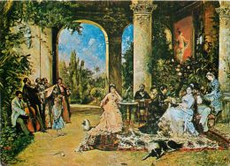Theodor Aman - Petrecere Painting Art, Romania Postcard - Romania