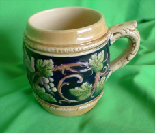 "Vintage Germany German Pottery BEER MUG - Fabrikmarkt Foreign "" Trink Klar Ist "" - Ceramics & Pottery"