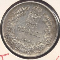 ROMANIA 250 LEI 1940 CAROL II  ARGENT SILVER - Roumanie