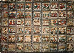 Zillis-Reischen, St Martin Church Interior, Switzerland Postcard Used Posted To UK 1976 Stamp - VS Valais