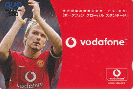 Carte Prépayée Quo Japon - David BECKHAM - Sport Football - SOCCER Japan Prepaid Card - 742 - Sport