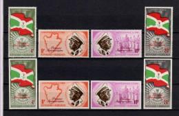 Belgisch Congo Belge Burundi N° 54/57 + Imperf Sets 1st Ann. Independance MNH Cat 14.25Eu. - 1962-69: Neufs