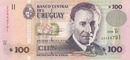 Uruguay - 100 Pesos 2006 - Série D - N° 22449791 - Superbe  - - Uruguay