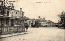 L'Aigle - Place De La Gare (animée, Diligence, Tacot) - L'Aigle