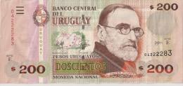 Uruguay - 200 Pesos 2011 - Série E - N° 04222283 - Superbe  - - Uruguay