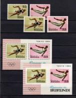 Belgisch Congo Belge Burundi N° 110A/B + 111A/B + BL5-5A MNH Olympic Games Cat. 18.00Eu. - 1962-69: Neufs