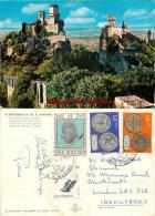 San Marino Postcard Used Posted To UK 1980 Stamp - San Marino