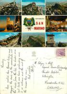 San Marino Postcard Used Posted To UK 1970s ITALY  Stamp - San Marino